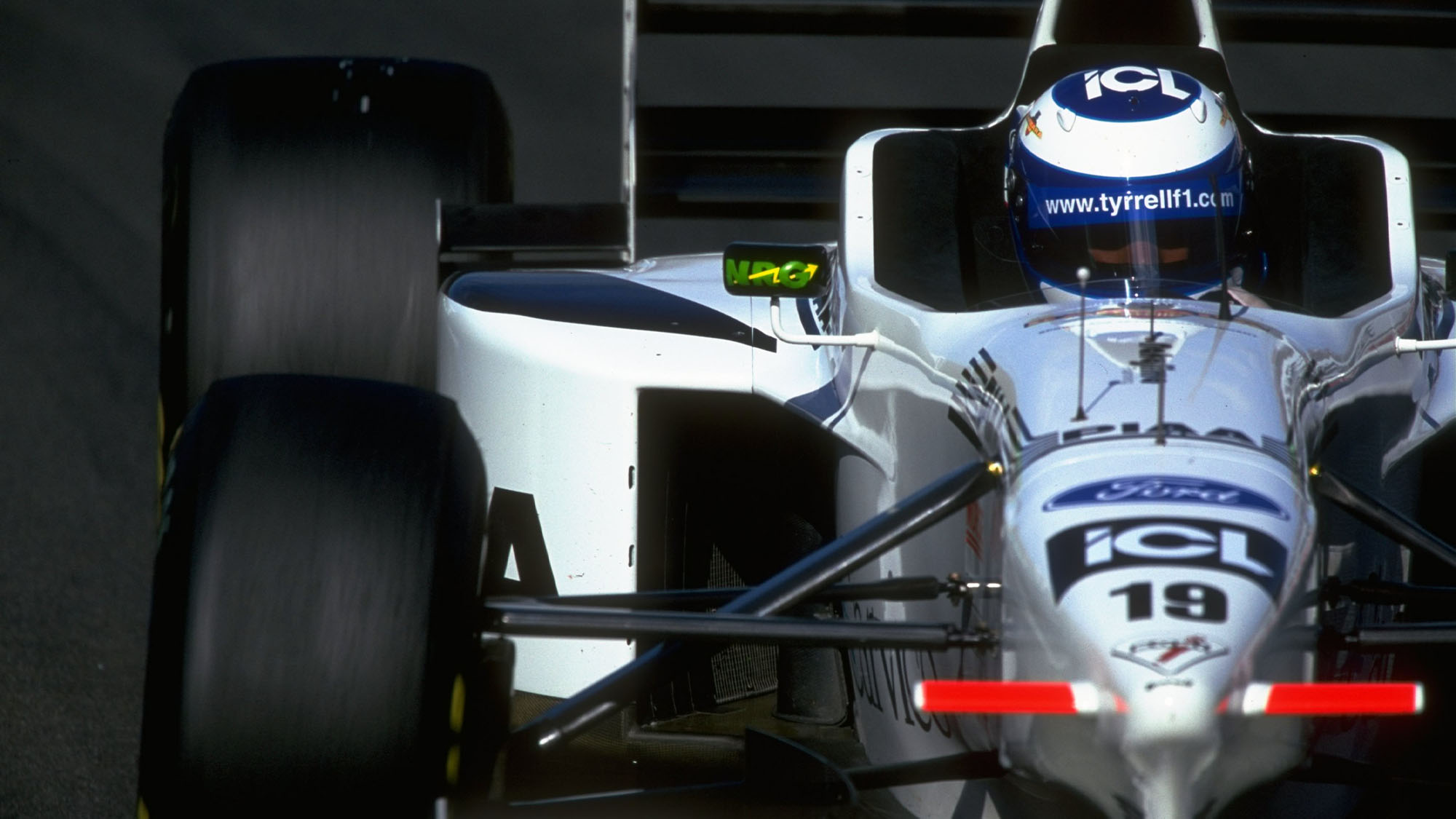 29 Jun 1997: Mika Salo of Finland driving his Tyrrell-Ford during the French Grand Prix at Magny-Cours in Nevers, France. \ Mandatory Credit: Mike Cooper /Allsport