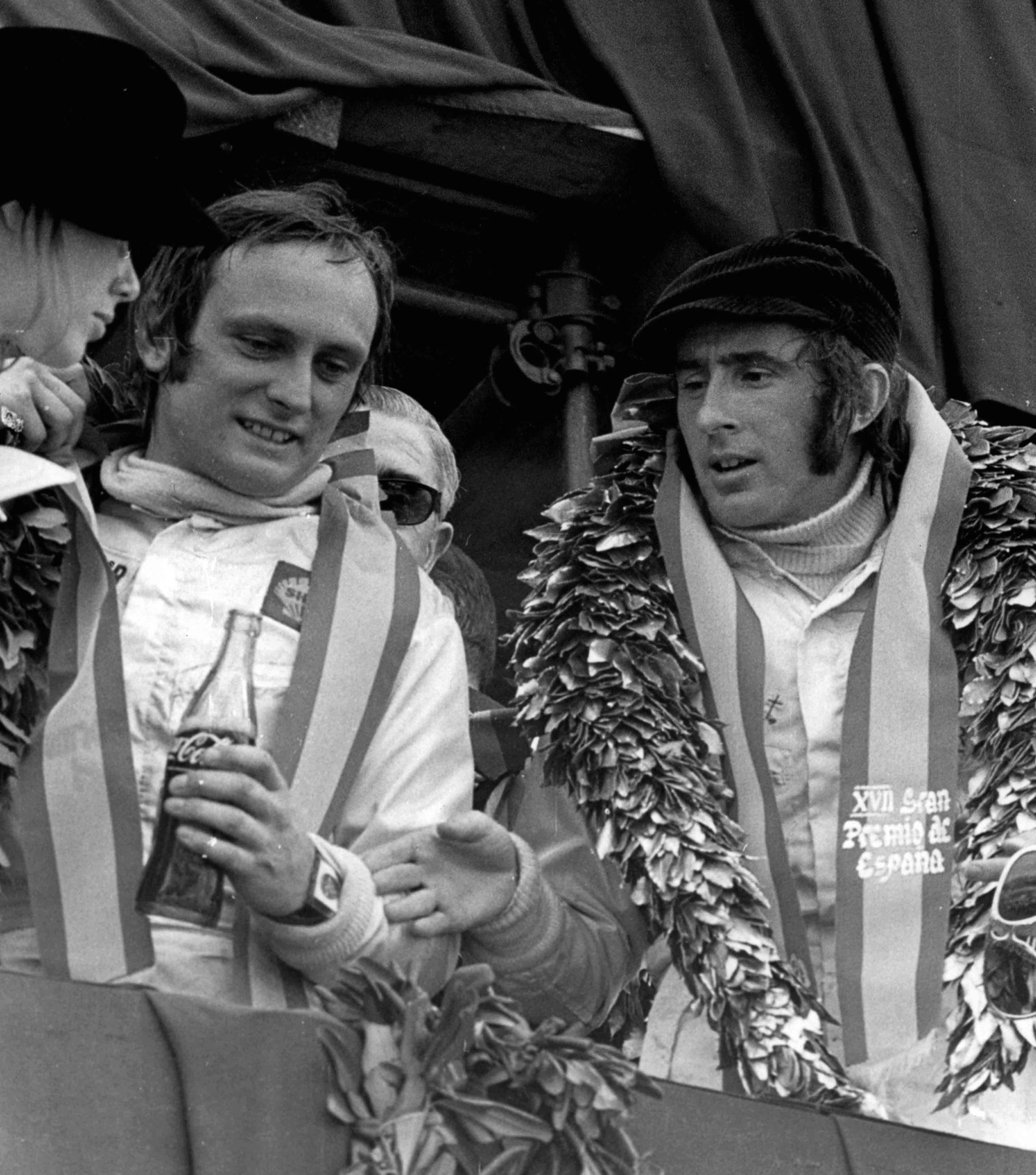 Jackie-Stewart-on-the-podium-at-the-1971-Spanish-Grand-prix