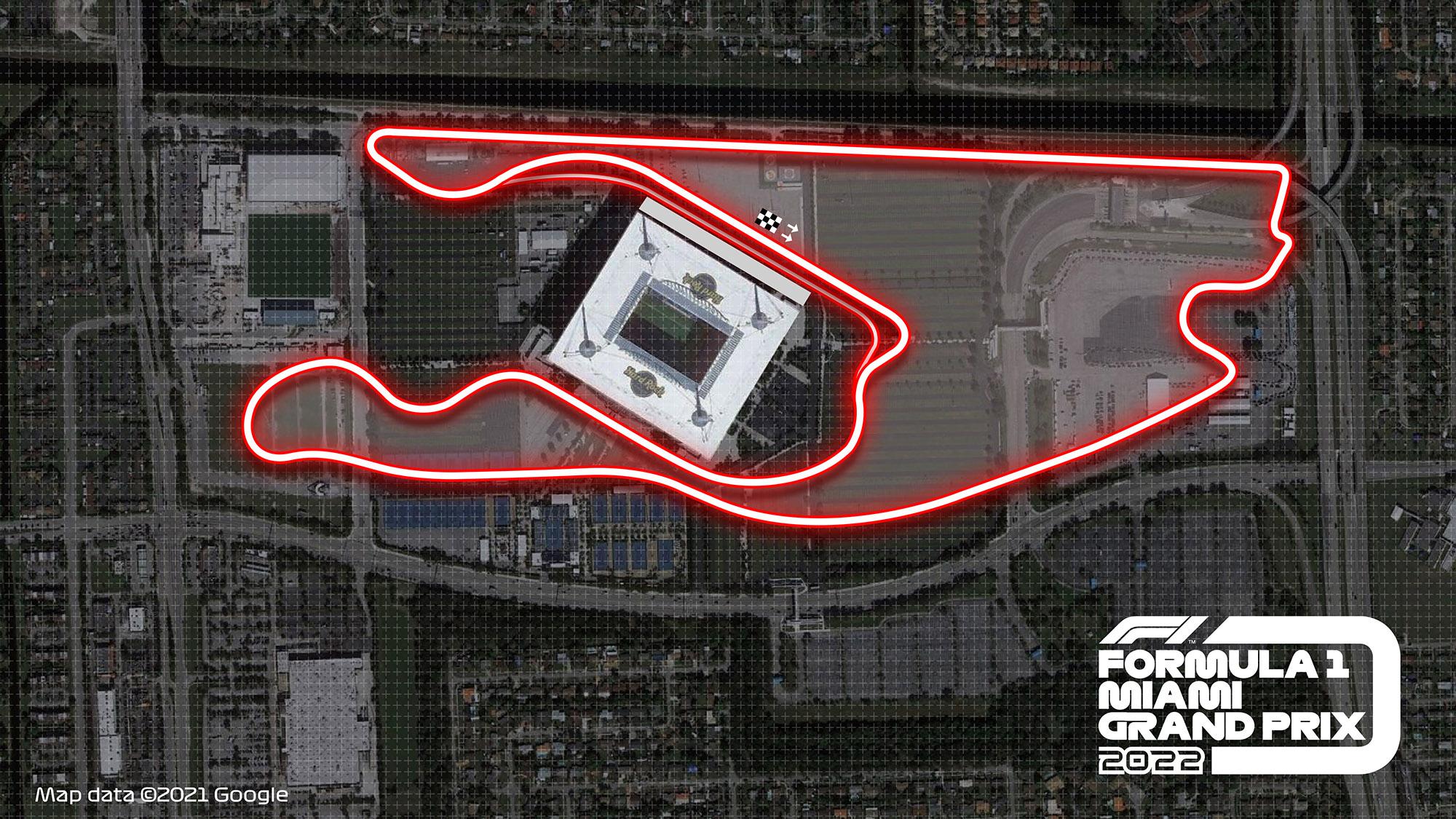 Miami grand prix layout
