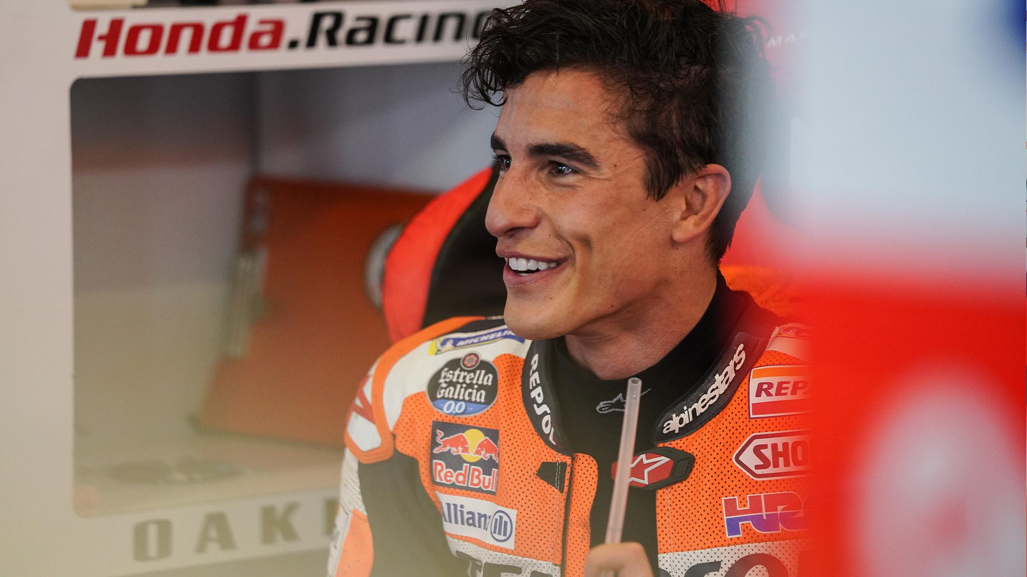 Marc Marquez smiles at the 2021 MotoGP Portuguese GP