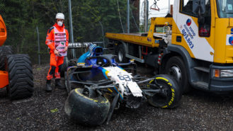 George Russell: 'I apologise to Valtteri' after Imola crash outburst