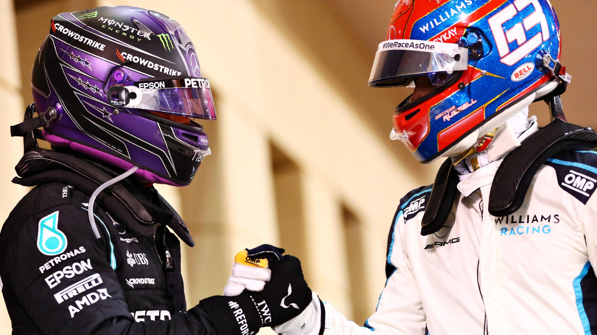 Lewis Hamilton, George Russell, 2021 Bahrain GP