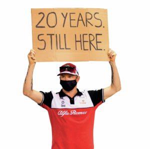 Kimi Raikkonen marks 20 years since he arrived in the F1 paddock