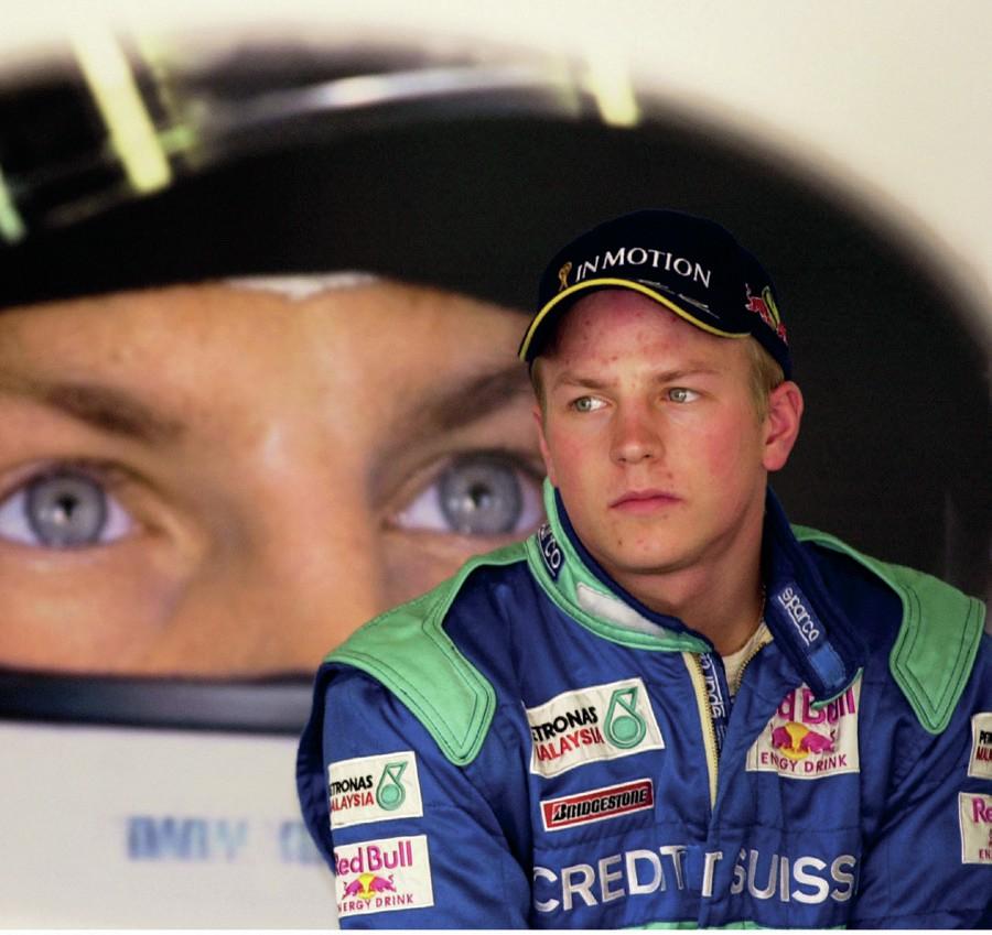 Kimi Raikkonen in Sauber race suit in 2001