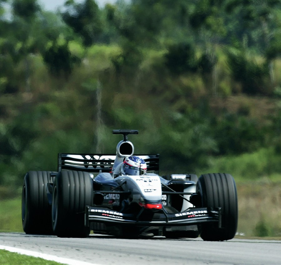 Kimi Raikkonen in the 2003 Malaysian Grand Prix