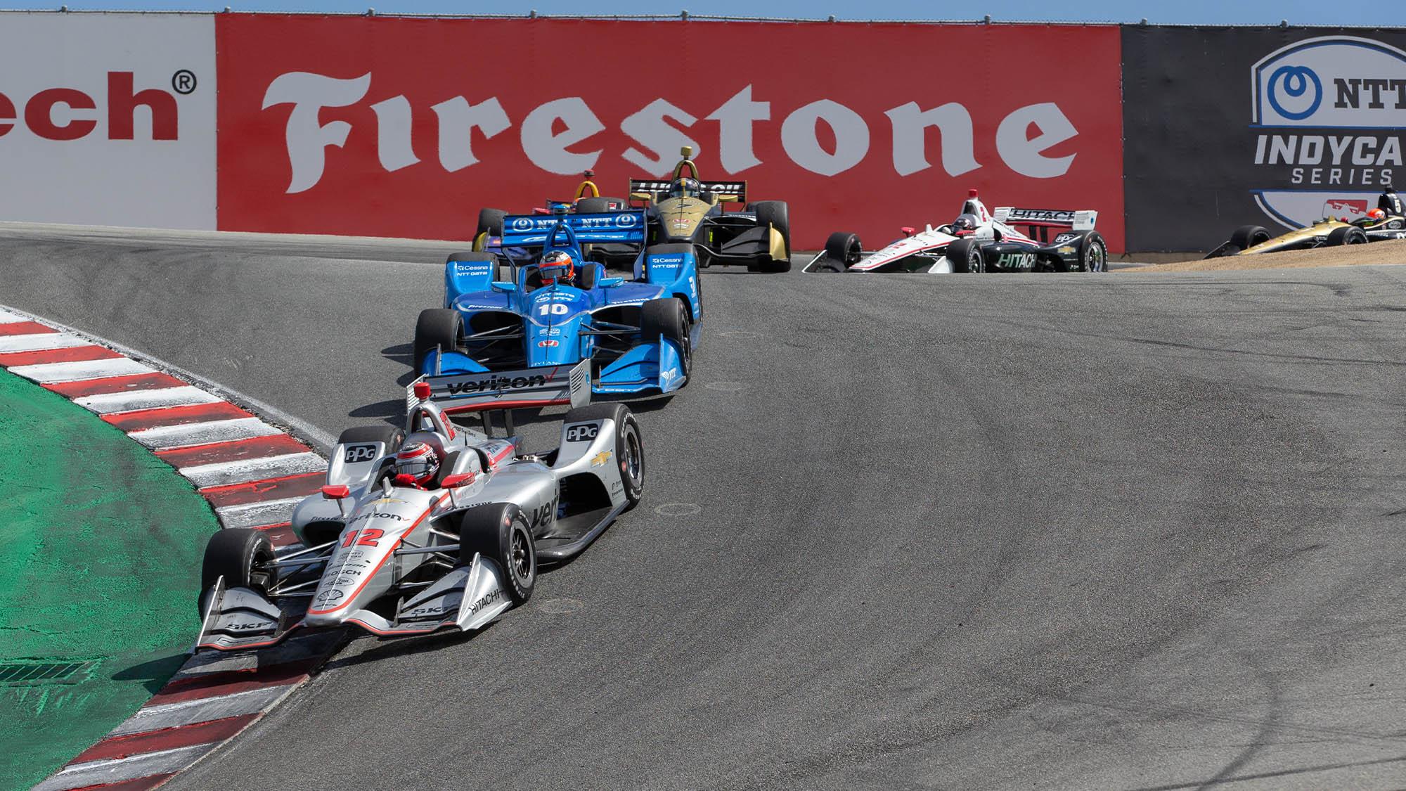 Laguna Seca corkscrew during the 2019 IndyCar Grand Prix of Monterey
