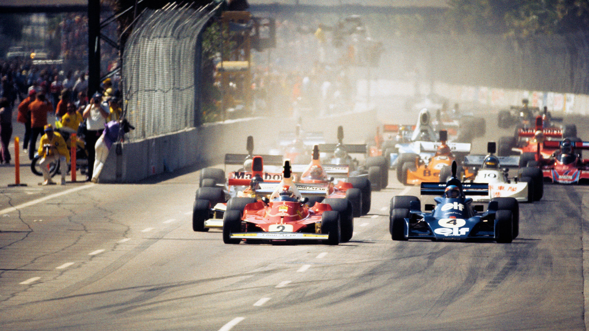 Start of the 1976 Grand Prix West at Long Beach