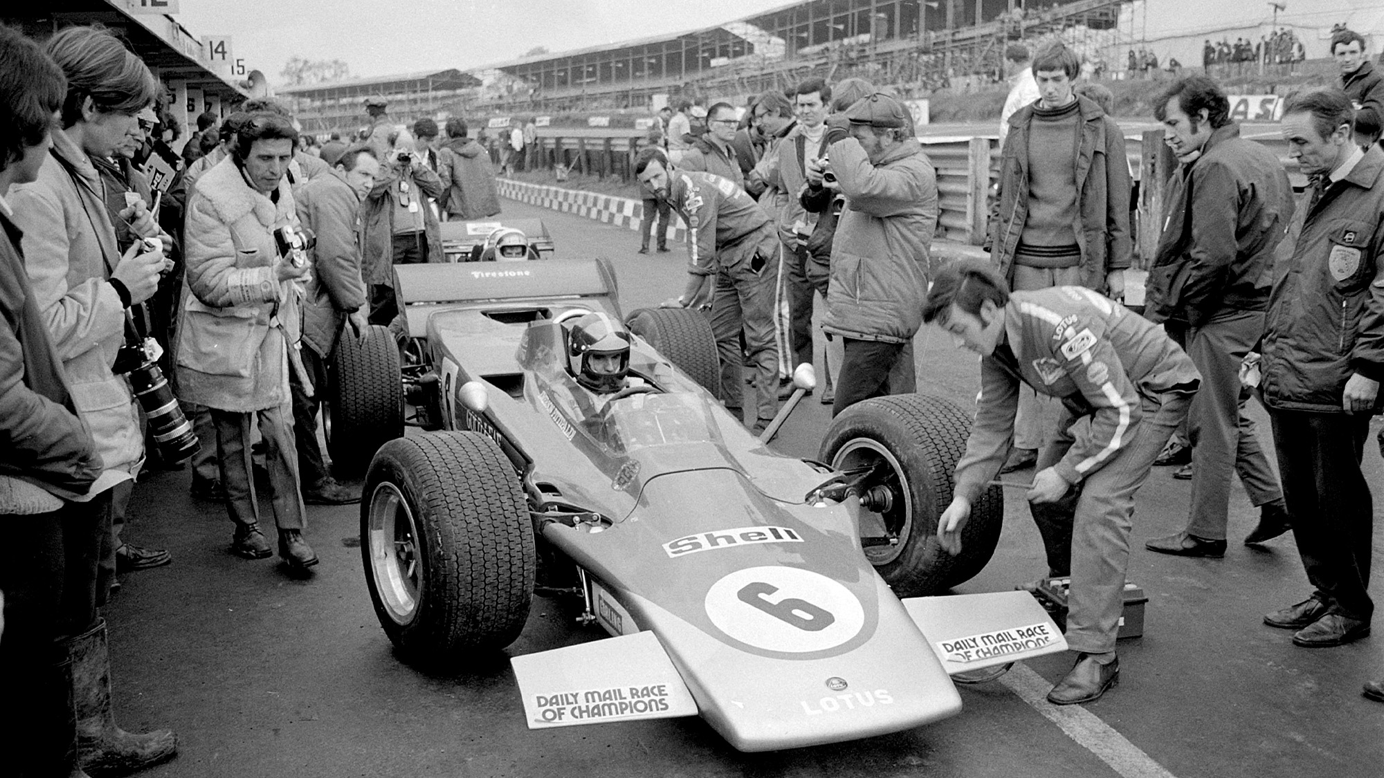 Lotus of Tony Trimmer in the 1971 Race of Champions