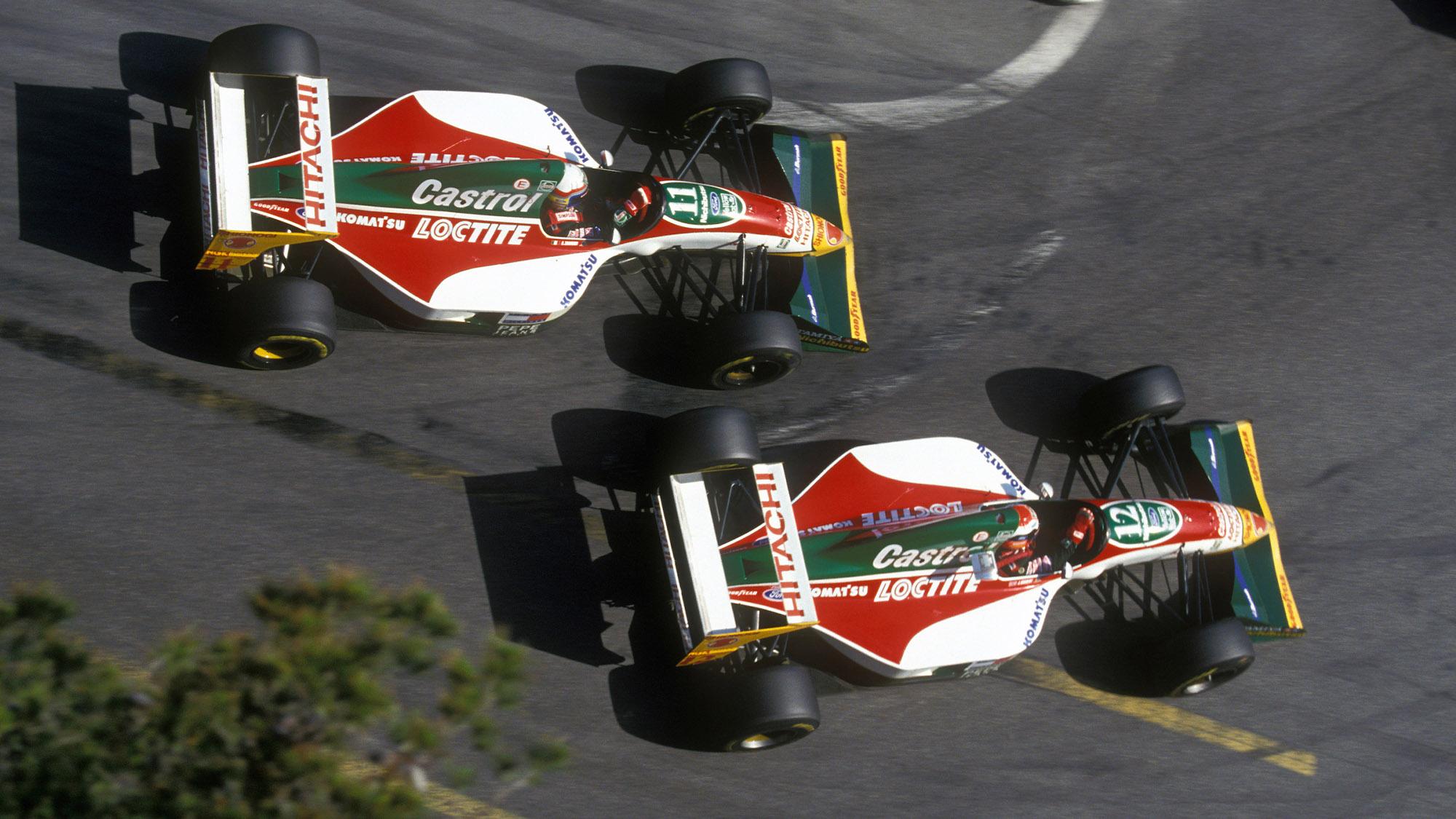 Lotus 107s in Monaco 1993