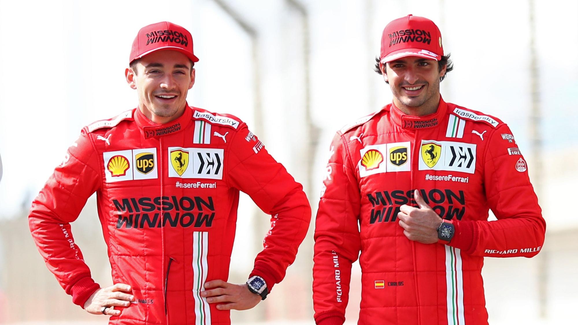 Charles Leclerc, Carlos Sainz, 2021 Bahrain gp