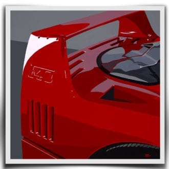 Product image for Ferrari F40 - 1990 | Jean-Yves Tabourot | Limited Edition print