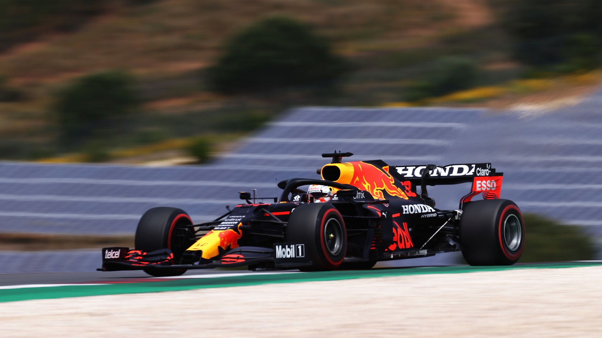 PORTIMAO, PORTUGAL - MAY 01: Max Verstappen of the Netherlands driving the (33) Red Bull Racing RB16B Honda on track during final practice for the F1 Grand Prix of Portugal at Autodromo Internacional Do Algarve on May 01, 2021 in Portimao, Portugal. (Photo by Lars Baron/Getty Images)