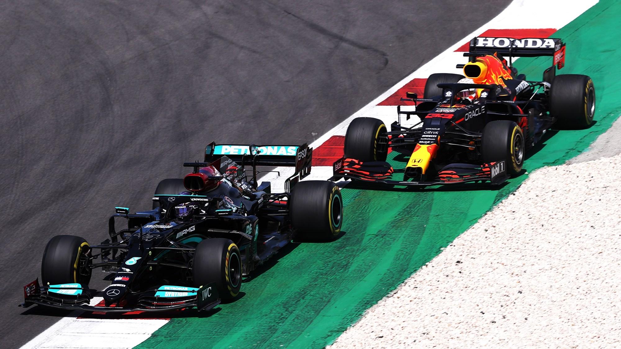 Lewis Hamilton, Max Verstappen, 2021 Portugueuse Grand Prix