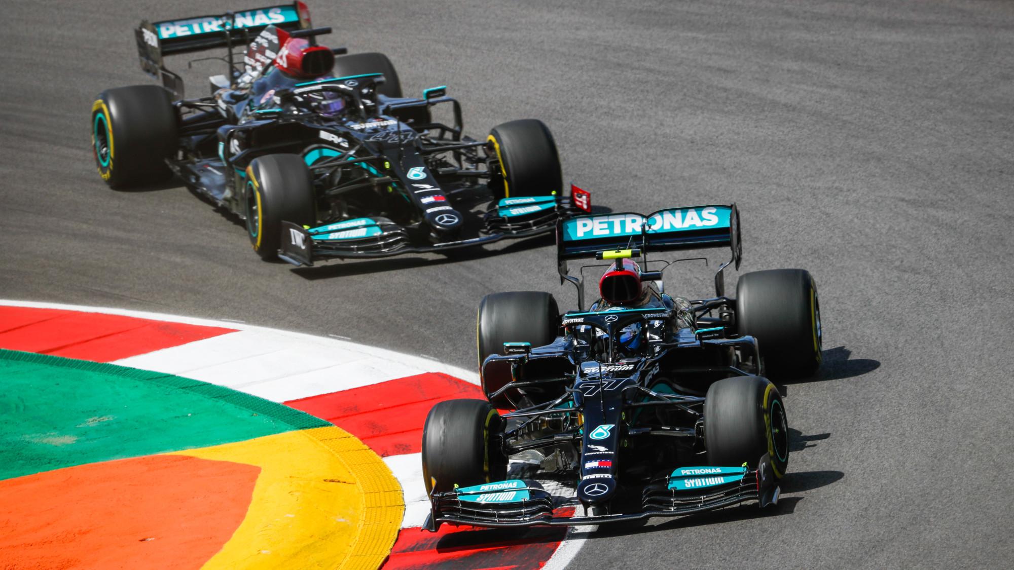 Valtteri Bottas, Lewis Hamilton, 2021 Portuguese GP