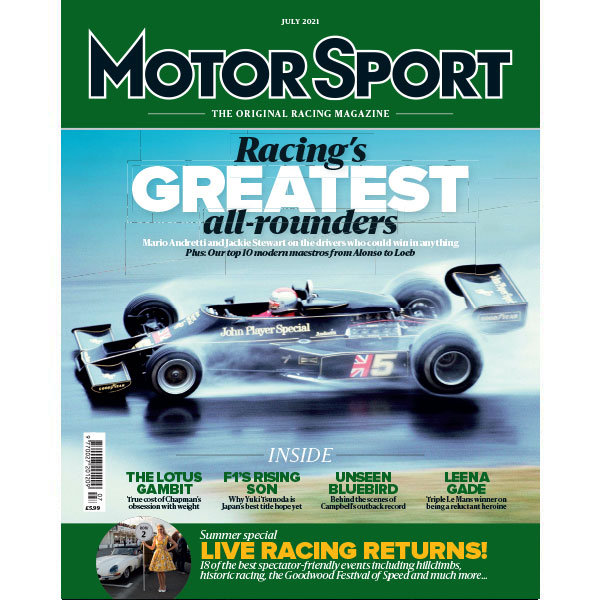 July 2021 issue - Racing's Greatest all-rounders