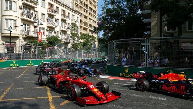 A picture of Baku Azerbaijan F1 GP 2021