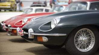 E-types assemble for 60th anniversary celebration at Shelsley Walsh