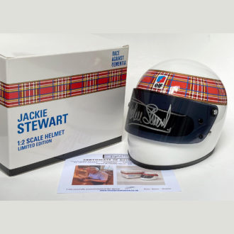 Product image for Jackie Stewart signed | 1/2 scale | Full-face helmet