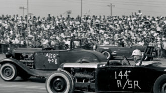 1950s dragsters and sports cars in sunny California: racing's most-golden golden age?