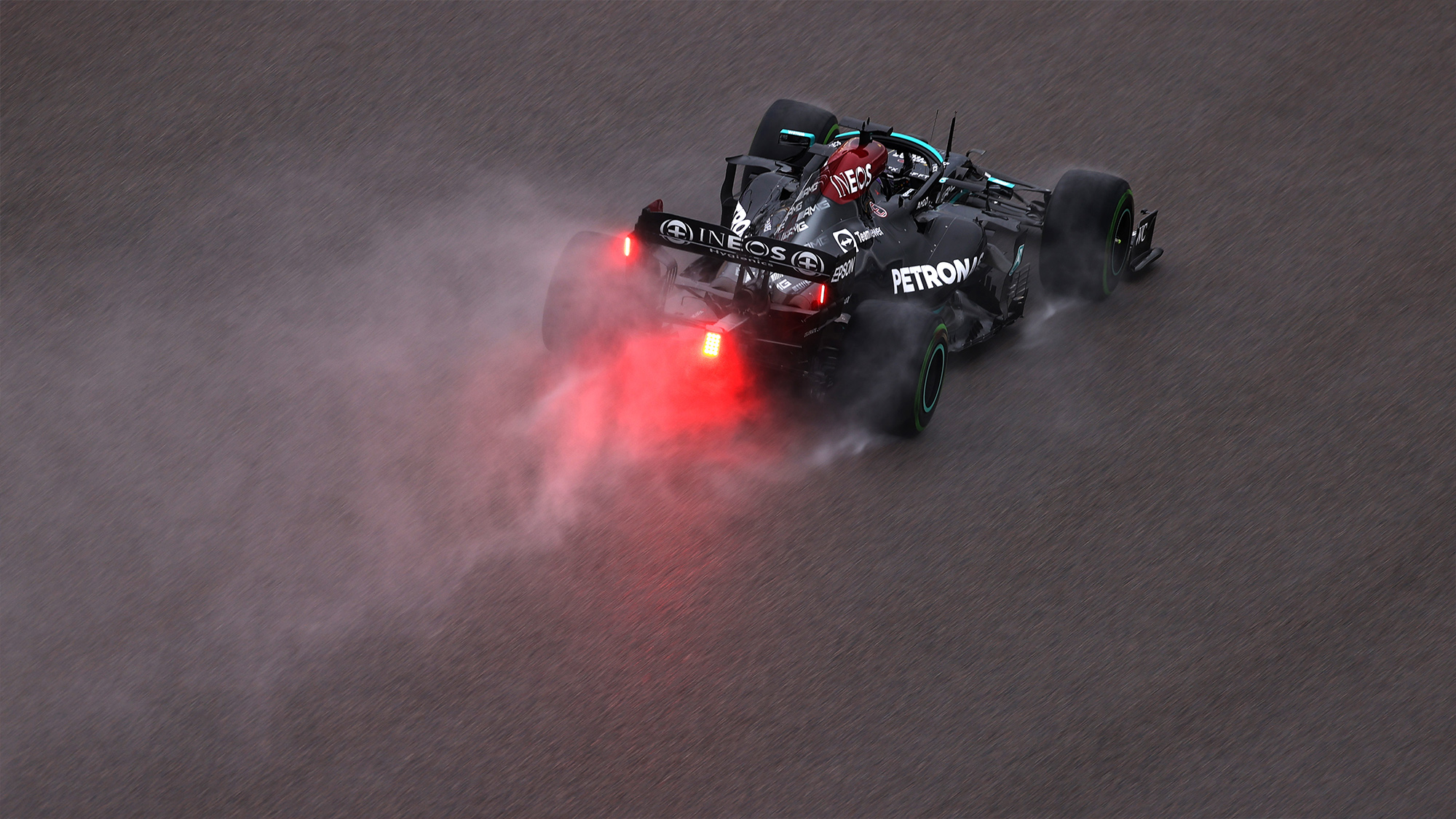 Lewis Hamilton in qualifying for the 2021 Russian GP