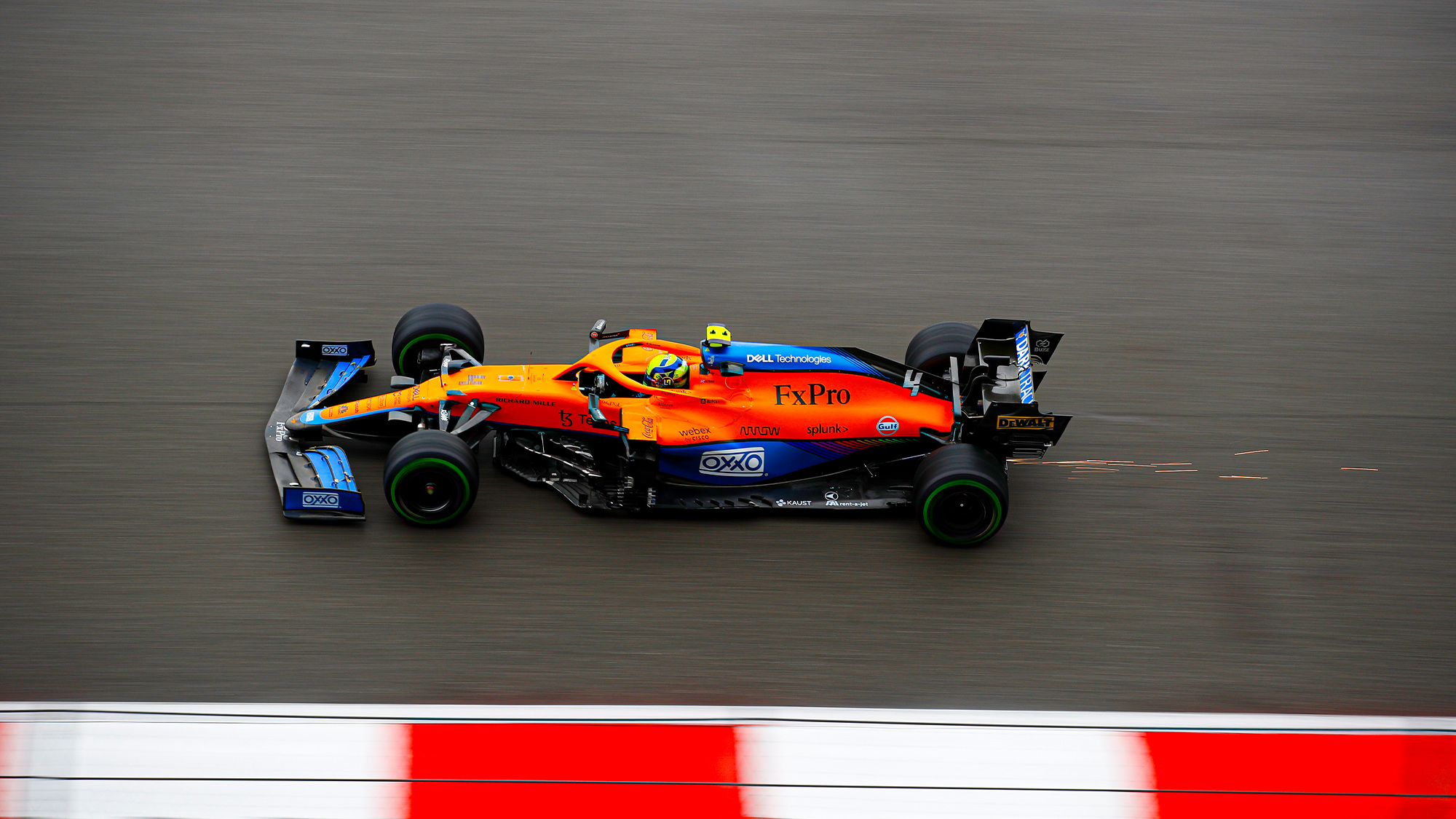 Lando Norris in qualifying for the 2021 Russian GP