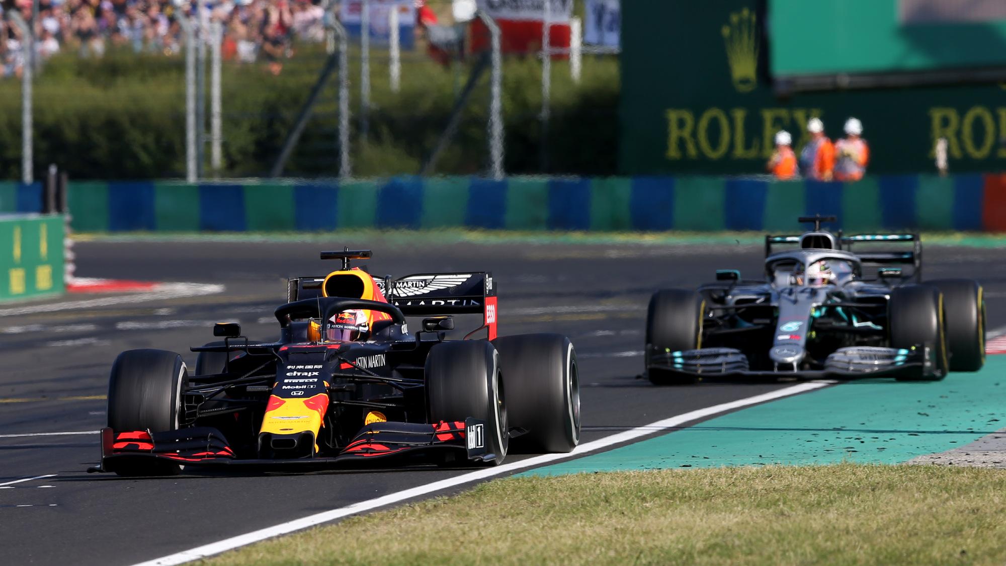 Max Verstappen, Lewis Hamilton, 2019 Hungarian GP
