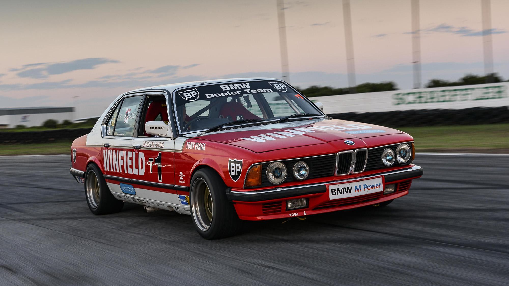 BMW 745i racing car