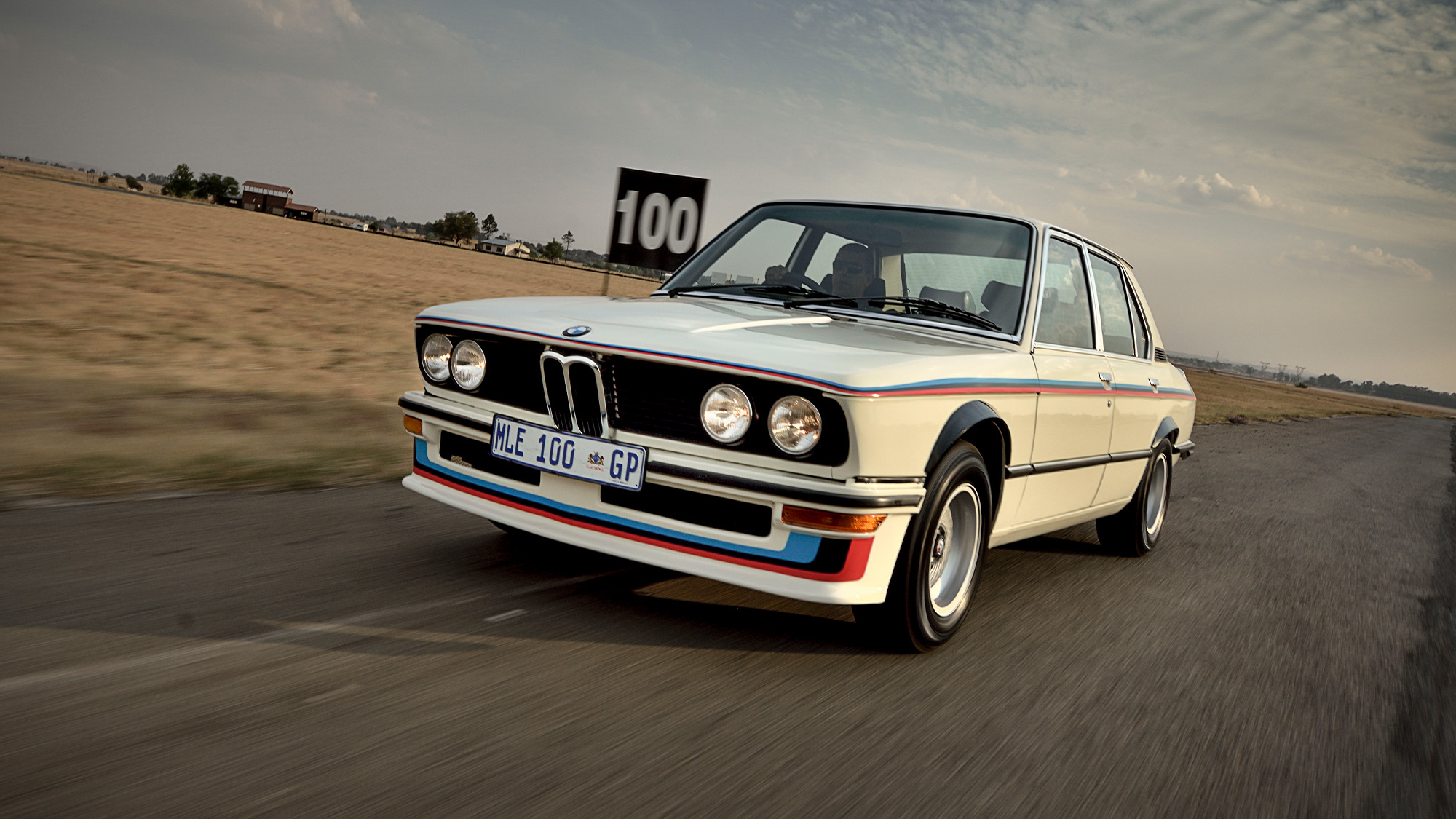 BMW 530 MLE front on track
