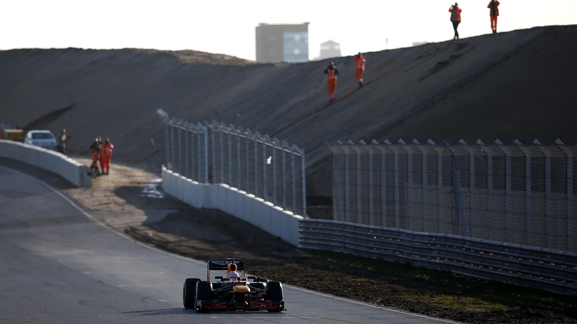 Max Verstappen drives his Red Bull at Zandvoort in 2020