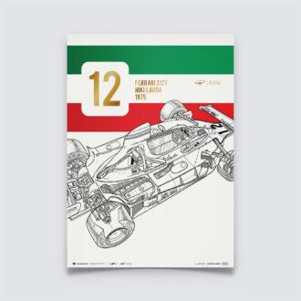 Product image for Giorgio Piola - Ferrari 312 T - Niki Lauda - 1975 | Collector's Edition