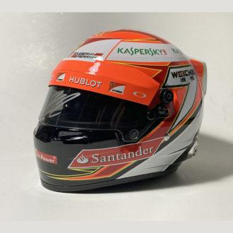 Product image for Kimi Räikkönen signed Ferrari 1/2 scale helmet 2014