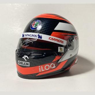 Product image for Kimi Räikkönen signed Alfa Romeo Racing 1/2 scale helmet 2020