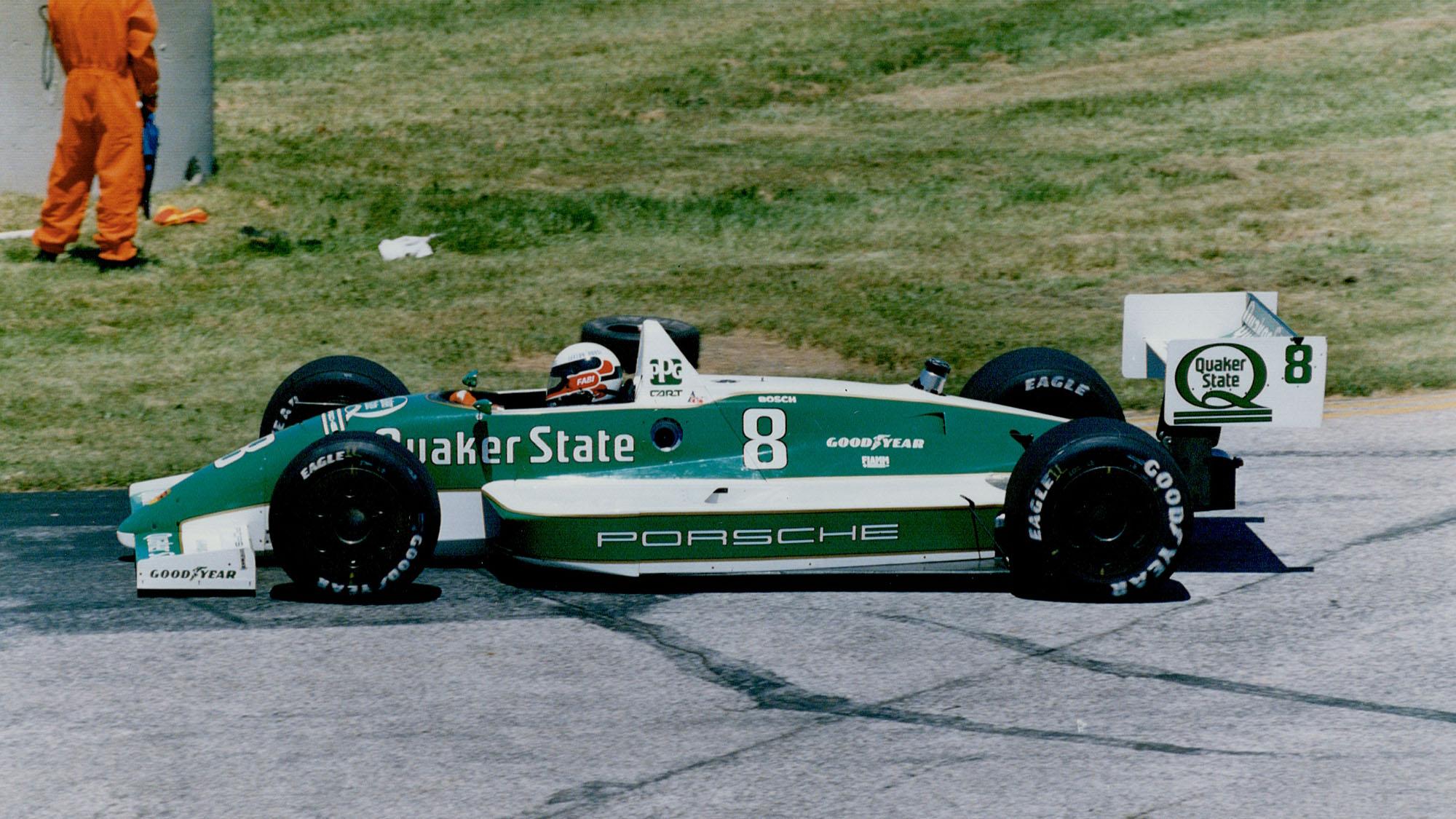 Teo Fabi in Porsche's 1989 IndyCar
