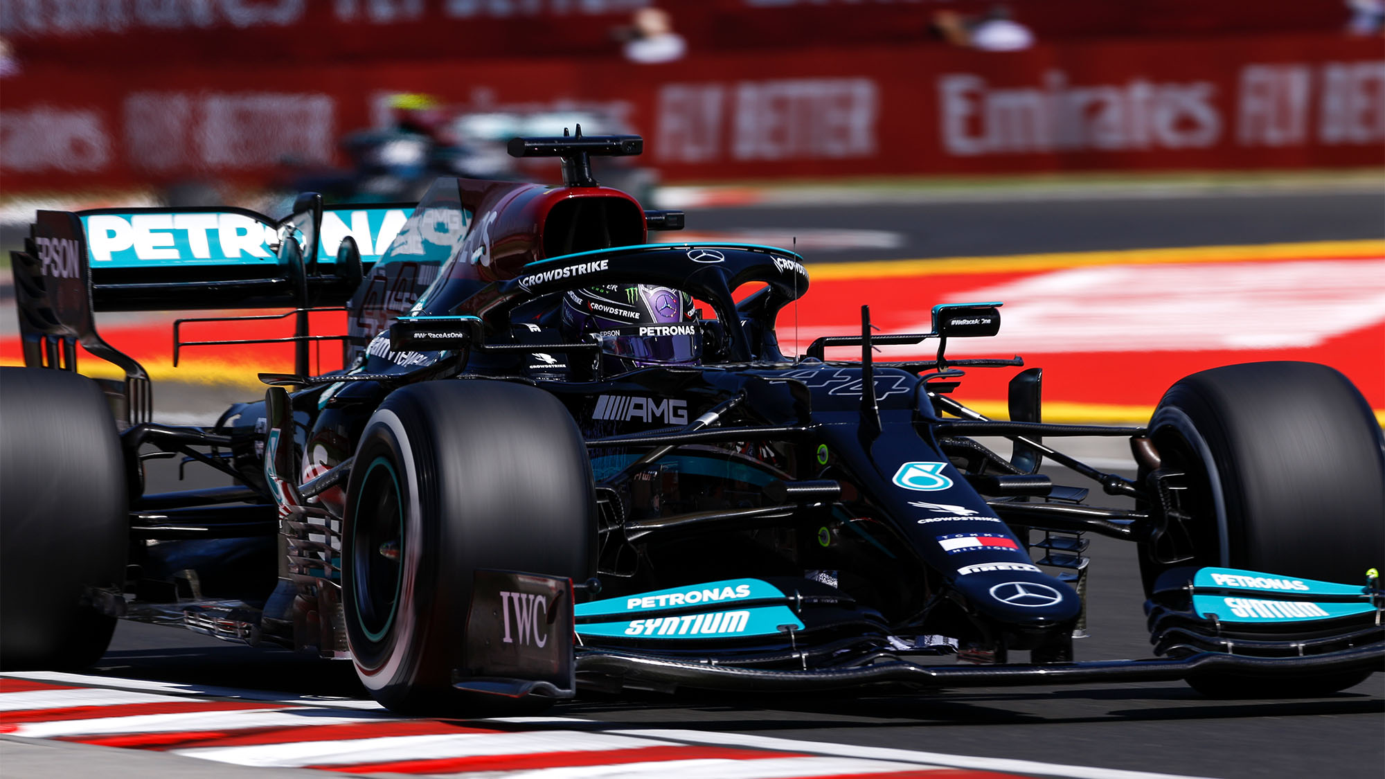 44 HAMILTON Lewis (gbr), Mercedes AMG F1 GP W12 E Performance, action during the Formula 1 Magyar Nagydij 2021, Hungarian Grand Prix, 11th round of the 2021 FIA Formula One World Championship from July 30 to August 1, 2021 on the Hungaroring, in Mogyorod, near Budapest, Hungary - Photo DPPI