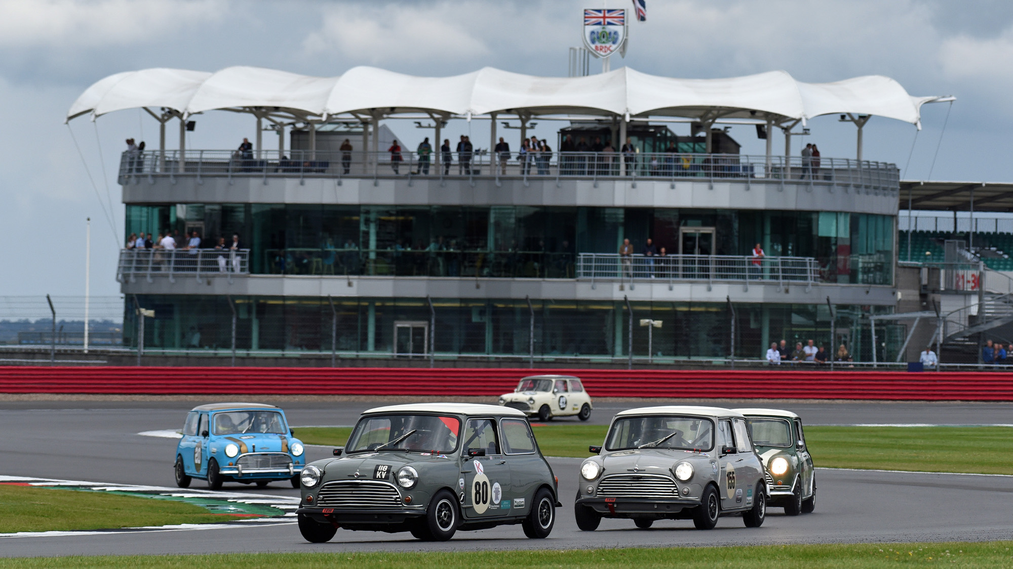 Mini challenge at the 2021 Classic at Silverstone