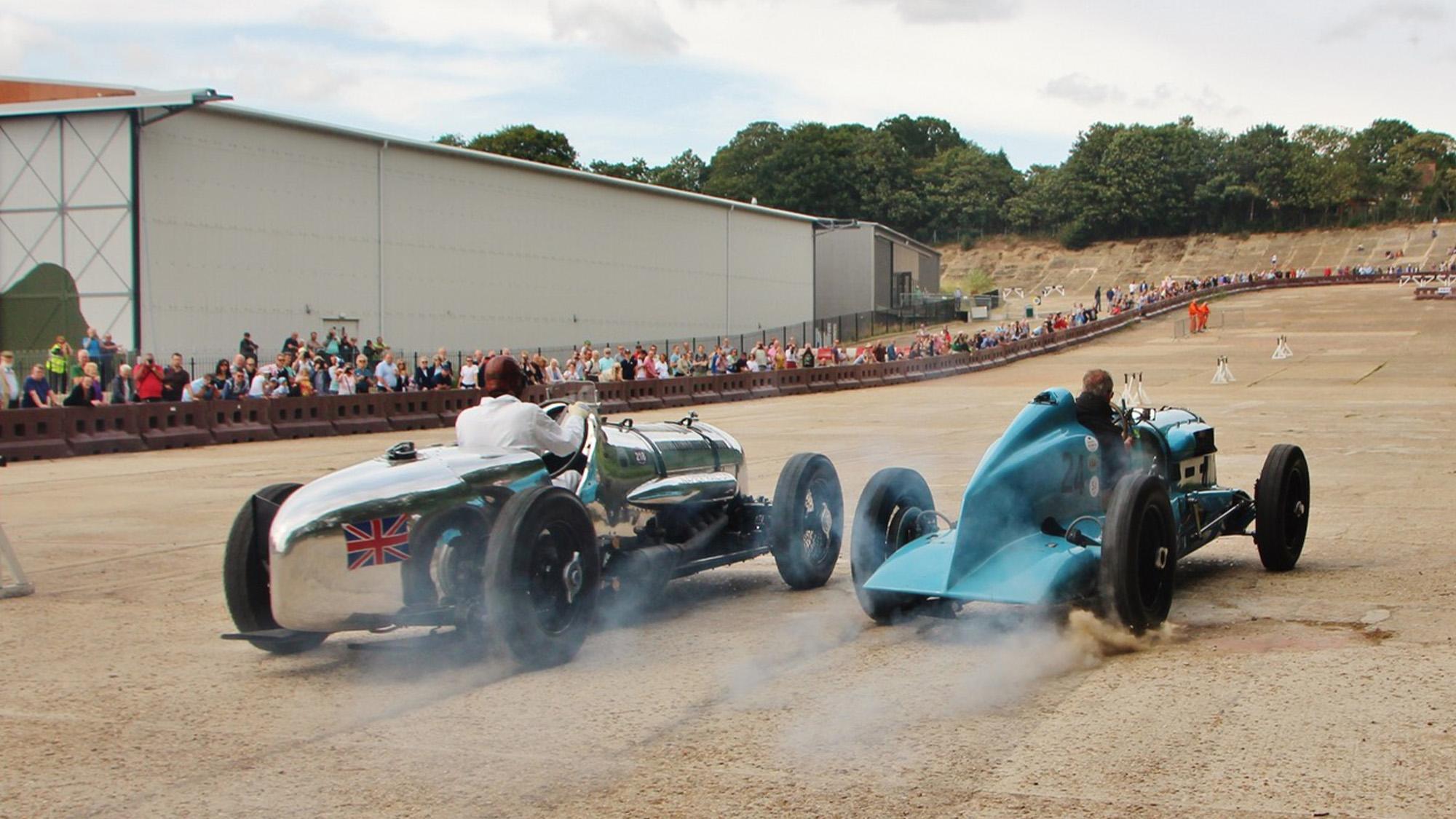 Historic car runs at Brooklands