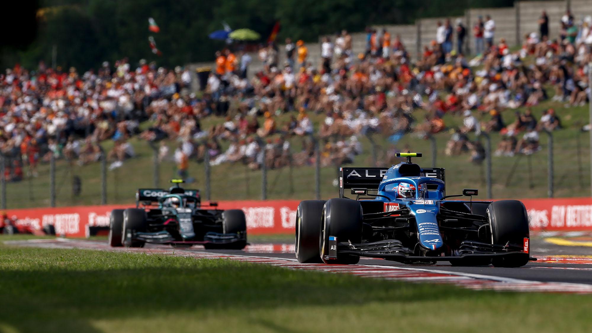 Ocon Vettel Hungary 2021