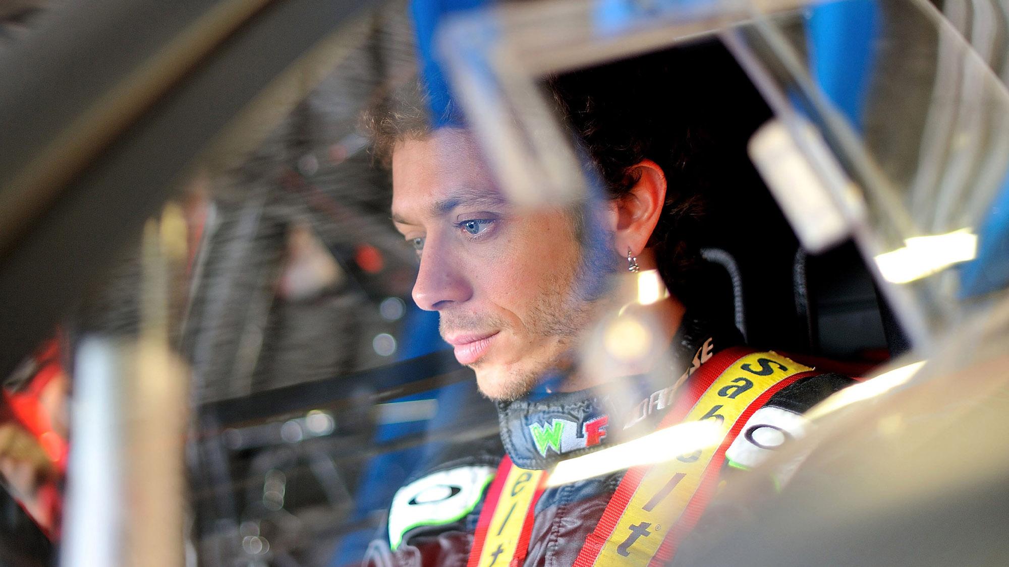 Valentino Rossi testing Blancpain Ednurance car in 2012