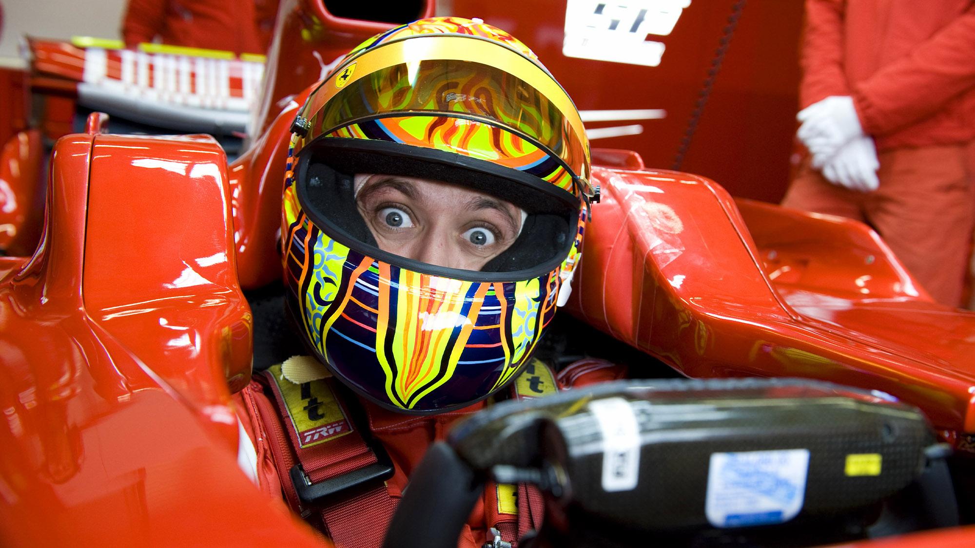 Valentino Rossi in Ferrari F1 2008