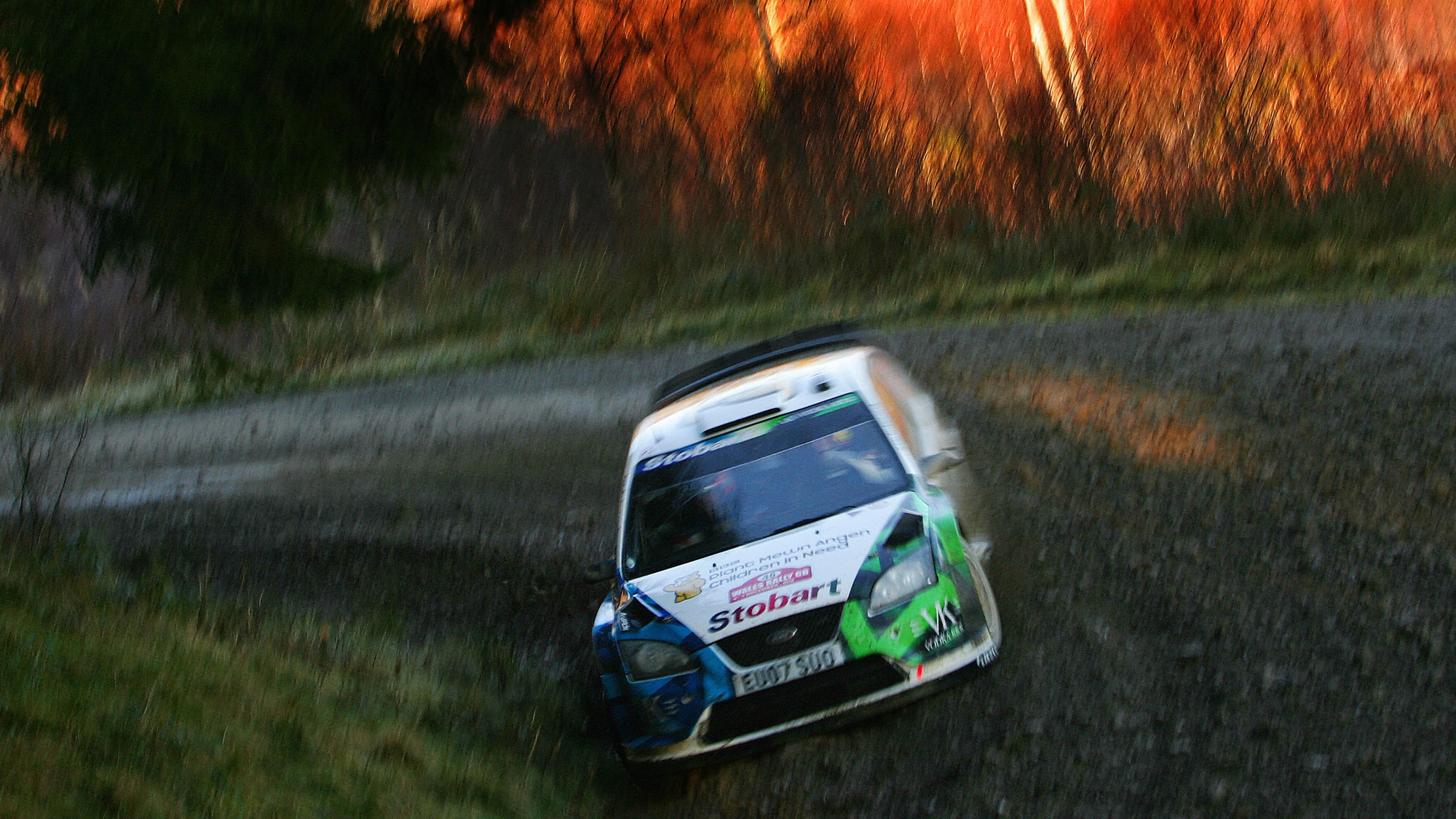Valentino Rossi in 2008 Wales Rally GB