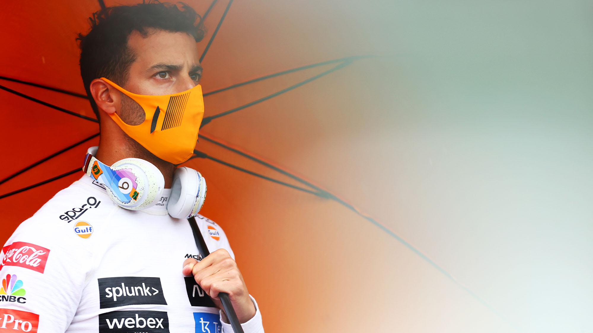 BUDAPEST, HUNGARY - AUGUST 01: Daniel Ricciardo of Australia and McLaren looks on from the grid before the F1 Grand Prix of Hungary at Hungaroring on August 01, 2021 in Budapest, Hungary. (Photo by Dan Istitene - Formula 1/Formula 1 via Getty Images)