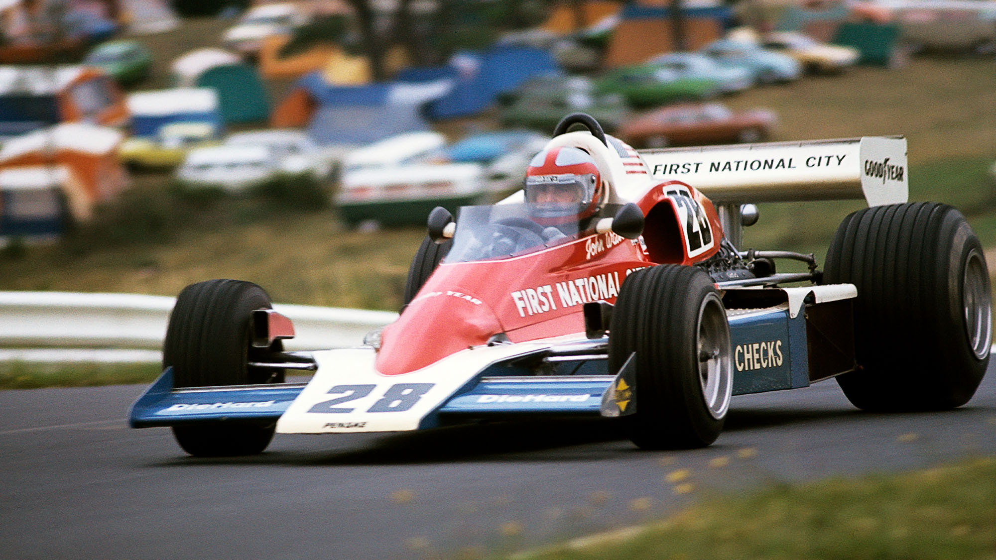 John Watson, Penske-Ford PC4, Grand Prix of Austria, Osterreichring, 15 August 1976. John Watson driving the Penske-Ford PC4 on his way to victory in the 1976 Austrian Grand Prix. (Photo by Paul-Henri Cahier /Getty Images)