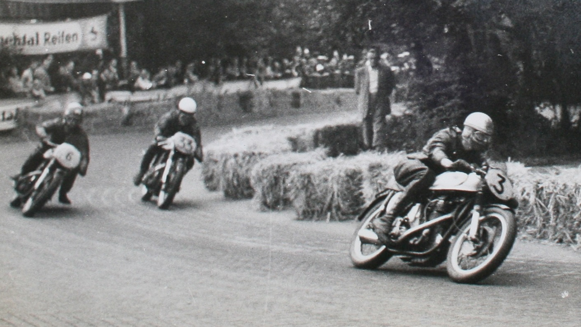 Jack Ahearn on Norton Manx in the 1960s