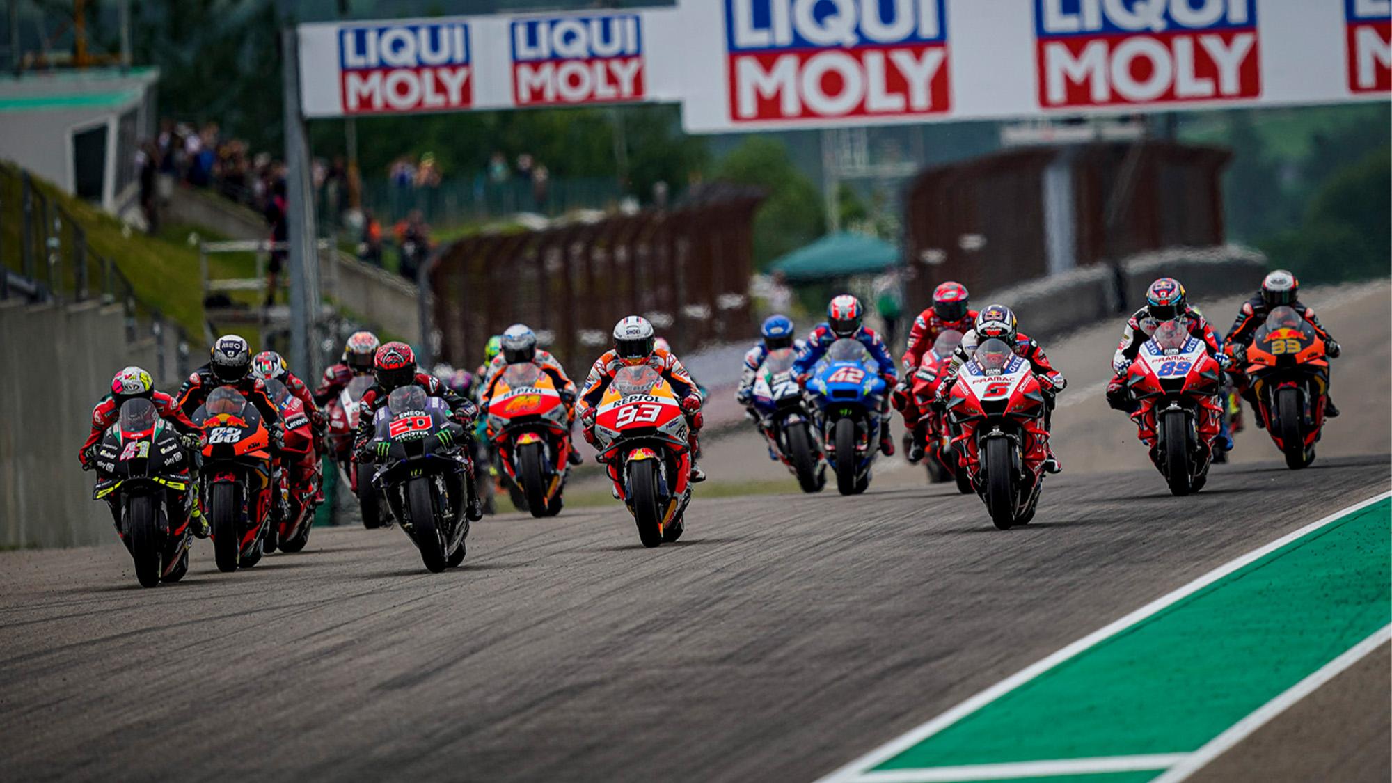 MotoGP start at the Sachsenring 2021