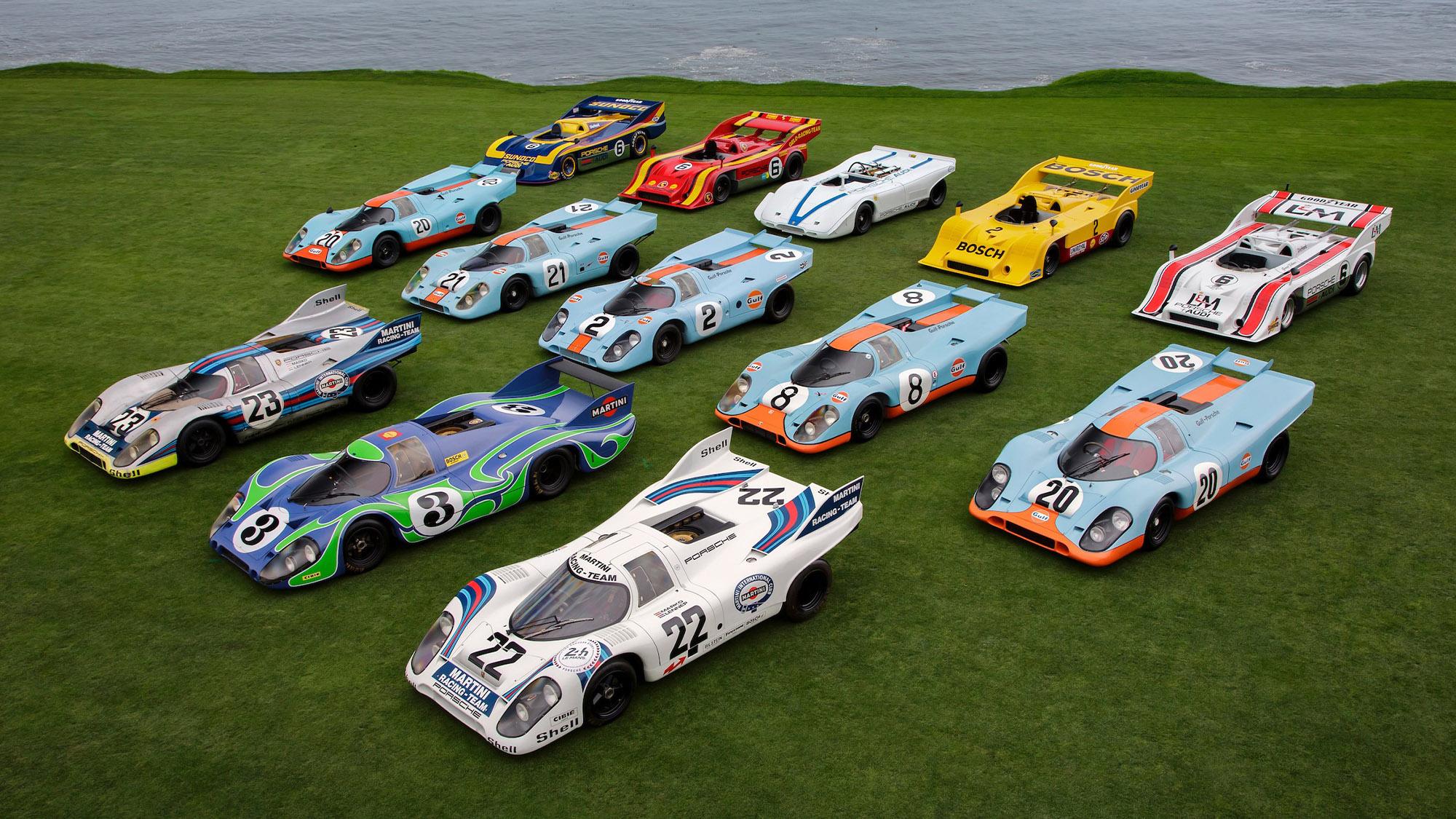 Porsche 917s at Pebble Beach in 2021