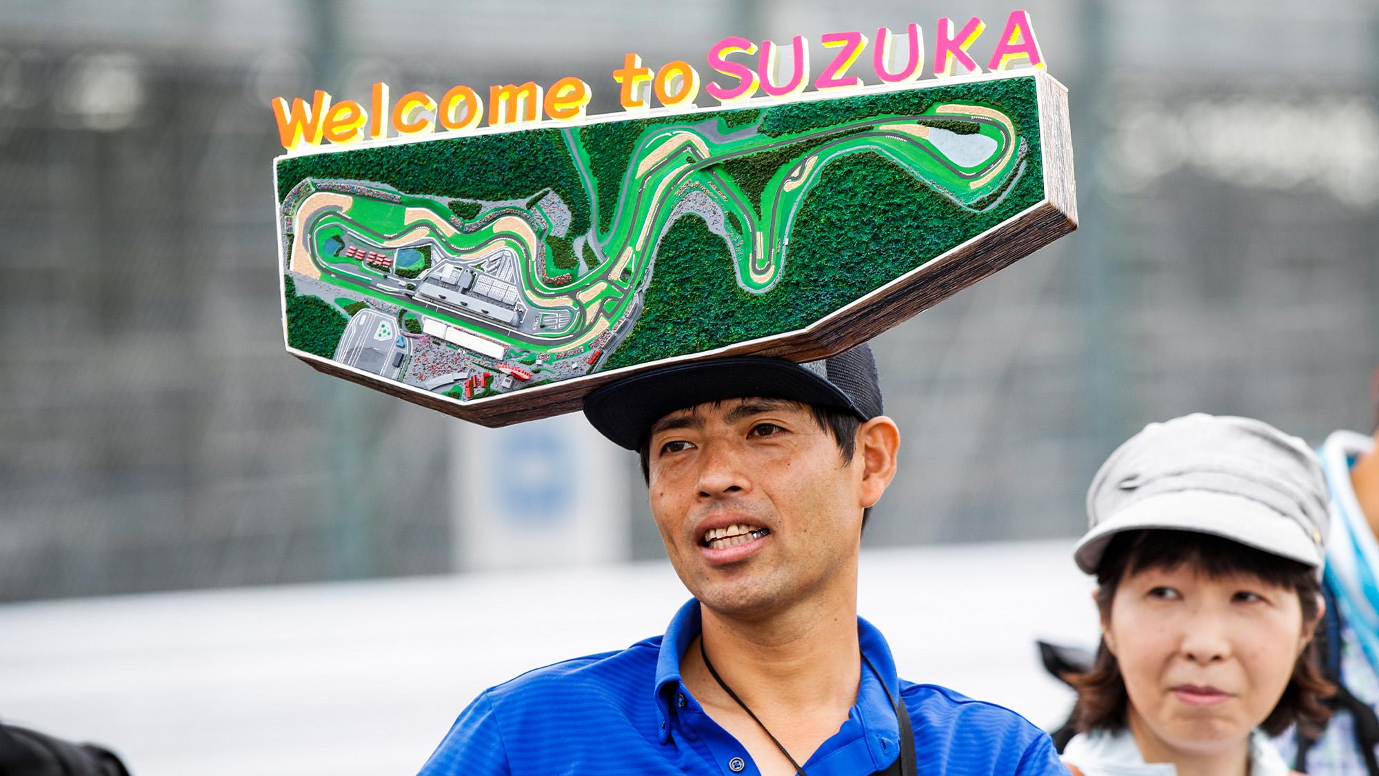 Suzuka track map hat