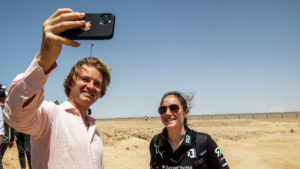 Nico Rosberg with Molly Taylor