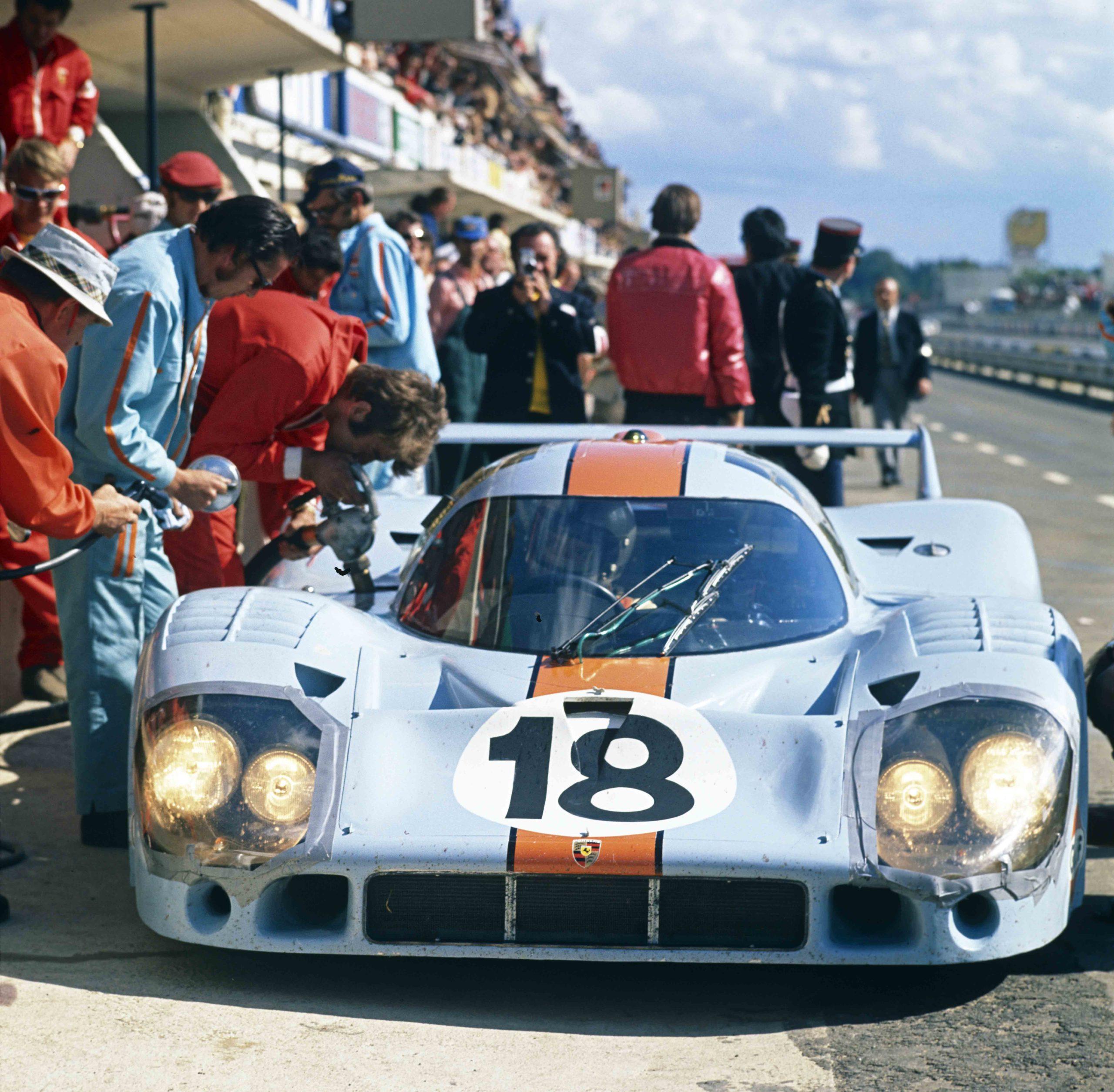 Pedro Rodriguez Jackie Oliver Porsche 917 at Le Mans 1971