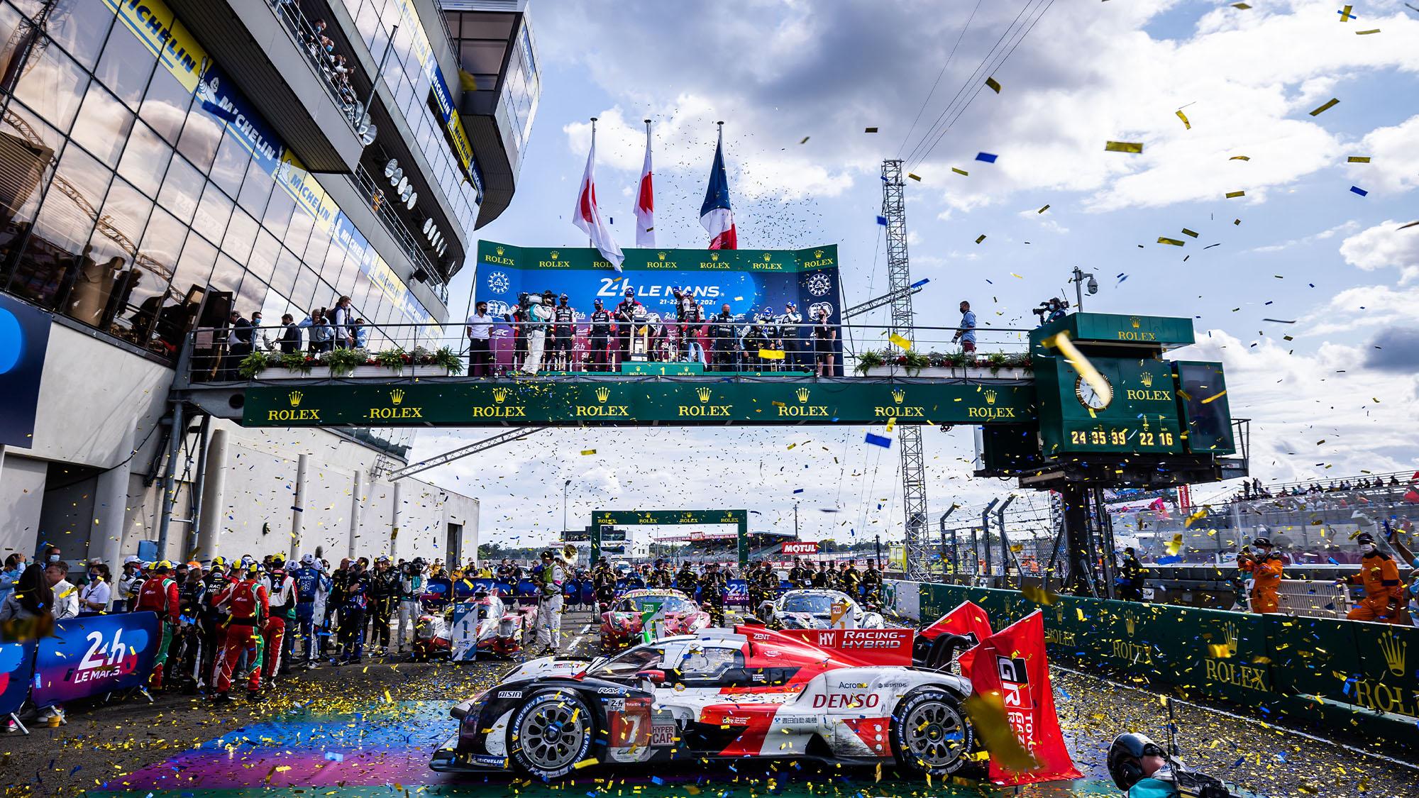 2021 Le Mans 24 Hours podium
