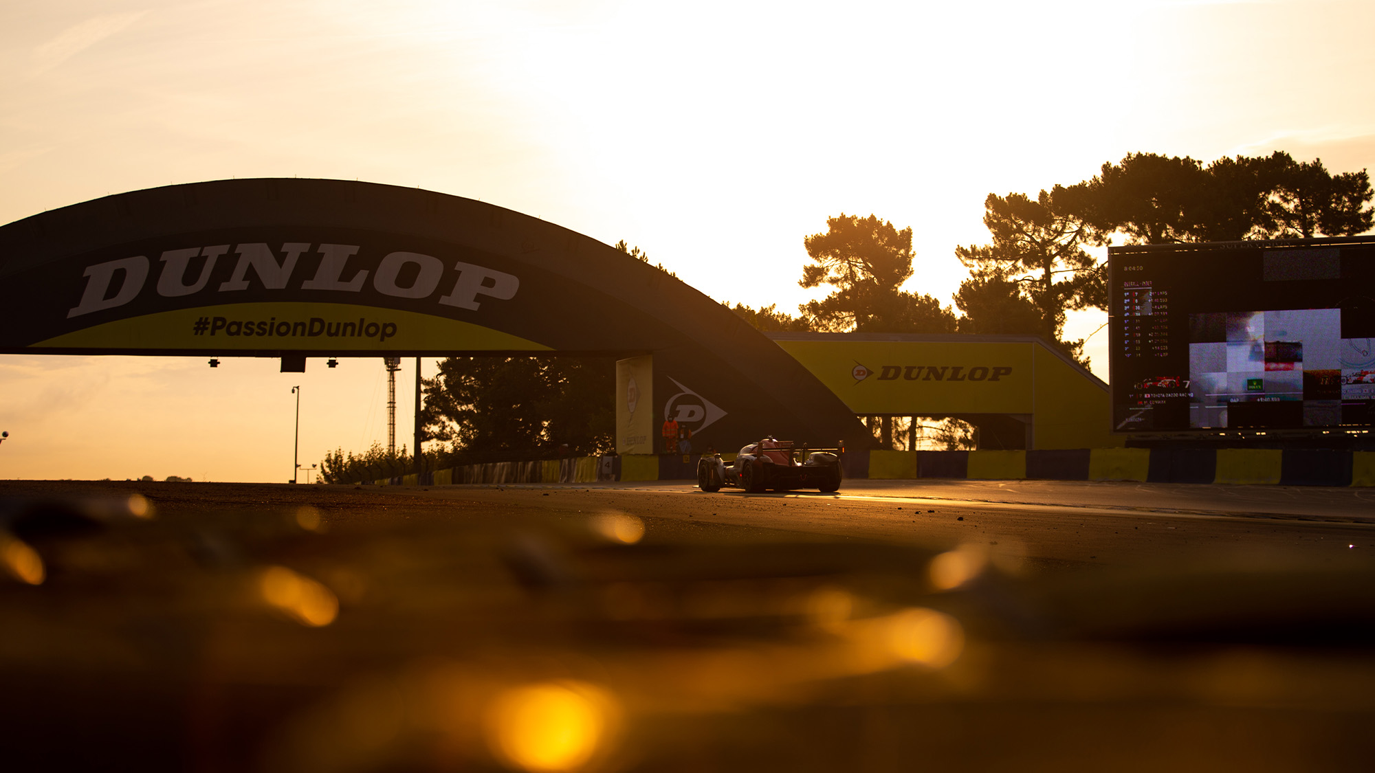 No7 Toyota during sunrise at 2021 Le Mans 24 Hours
